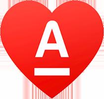 Логотип Альфа-Банка в сердце